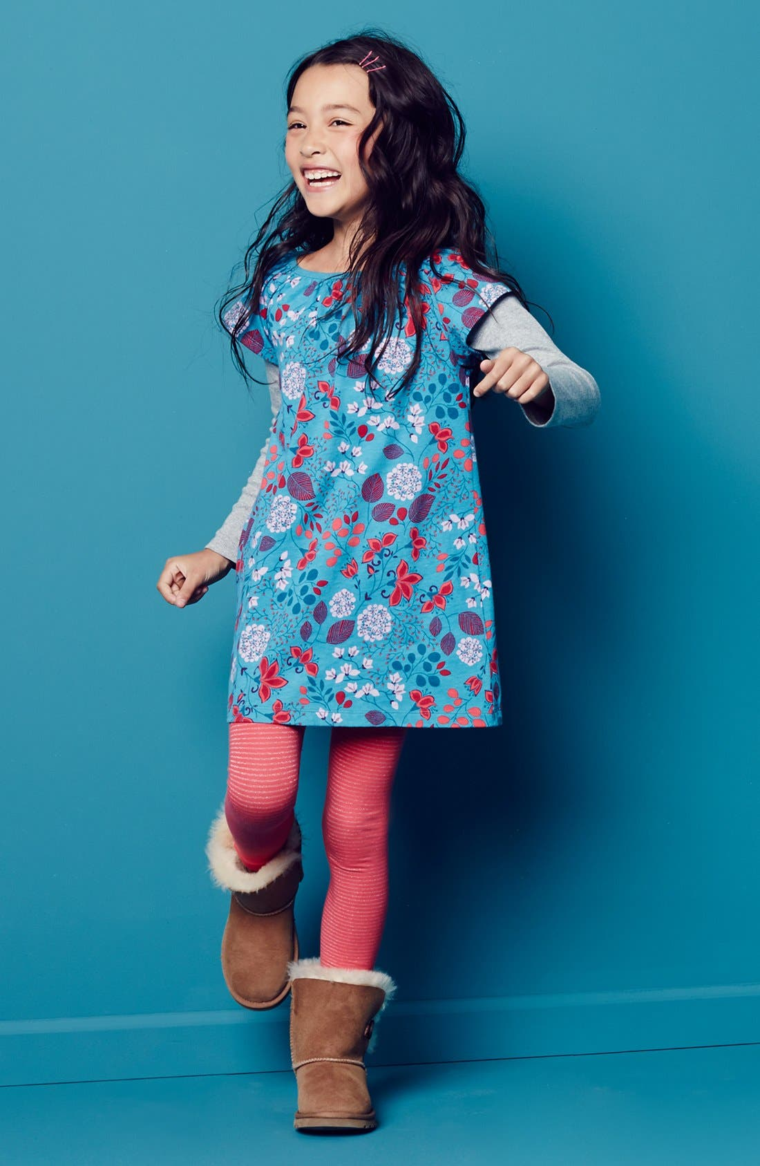 Alternate Image 2  - Tea Collection 'Botanical' Layer Dress (Toddler Girls, Little Girls & Big Girls)