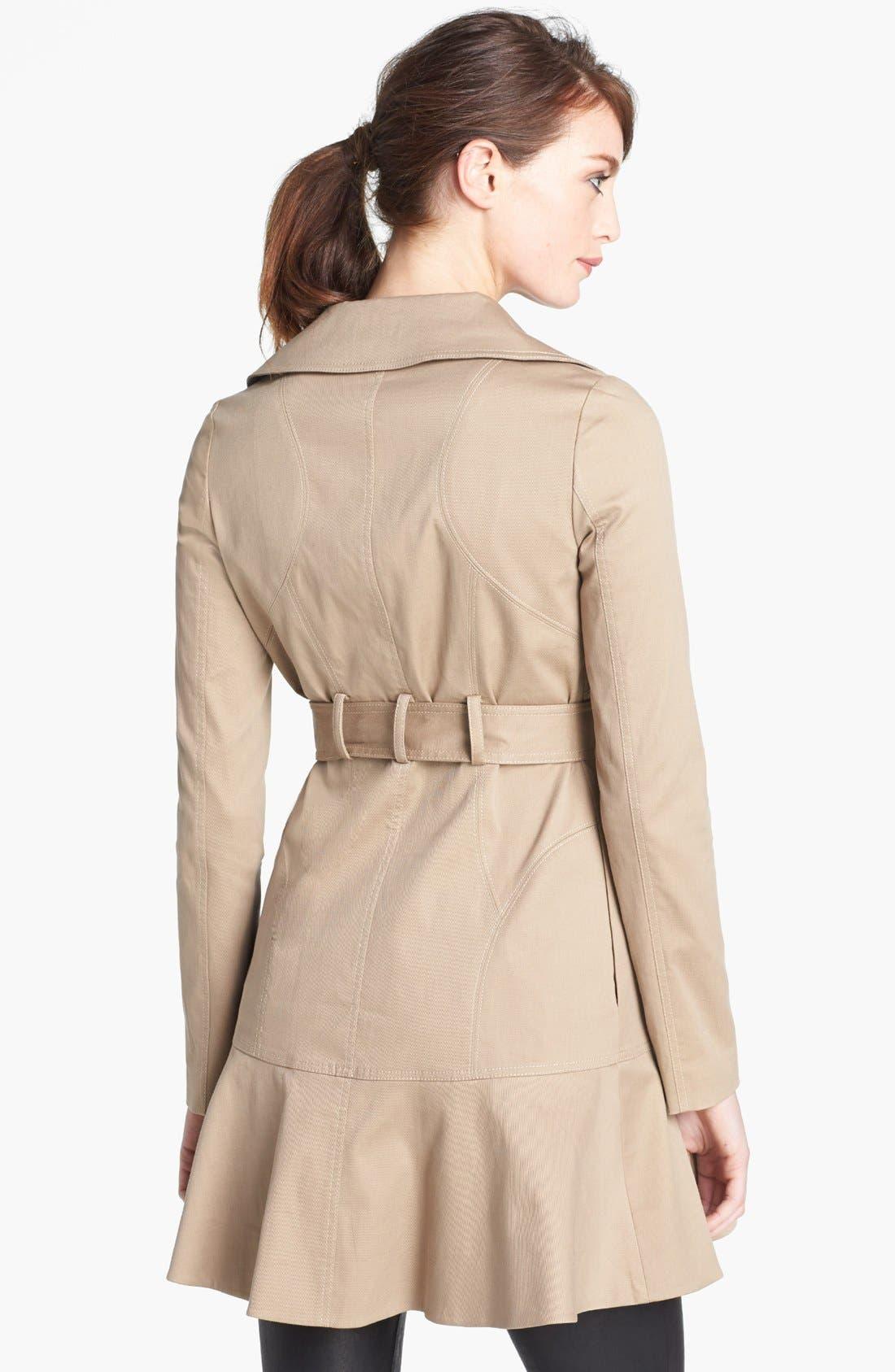 Alternate Image 2  - Diane von Furstenberg 'Kadence' Cotton Blend Trench Coat
