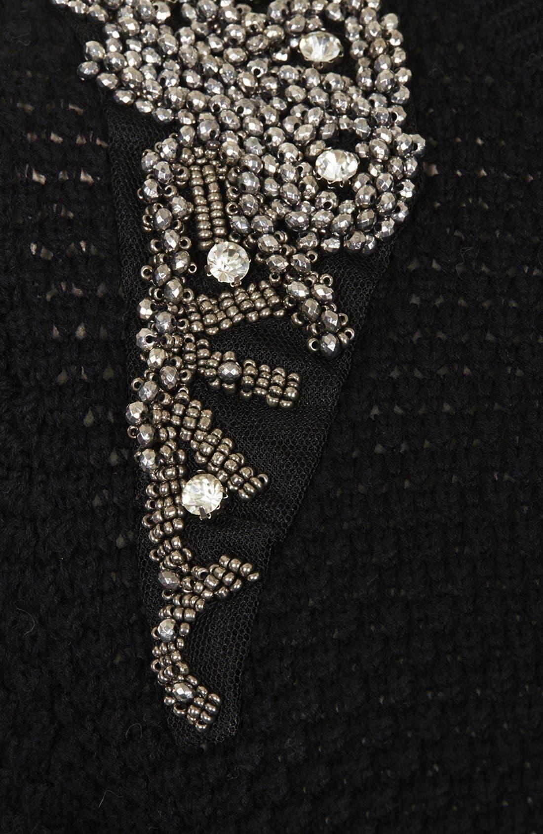 Alternate Image 4  - Topshop Embellished Shoulder Open Knit Sweater