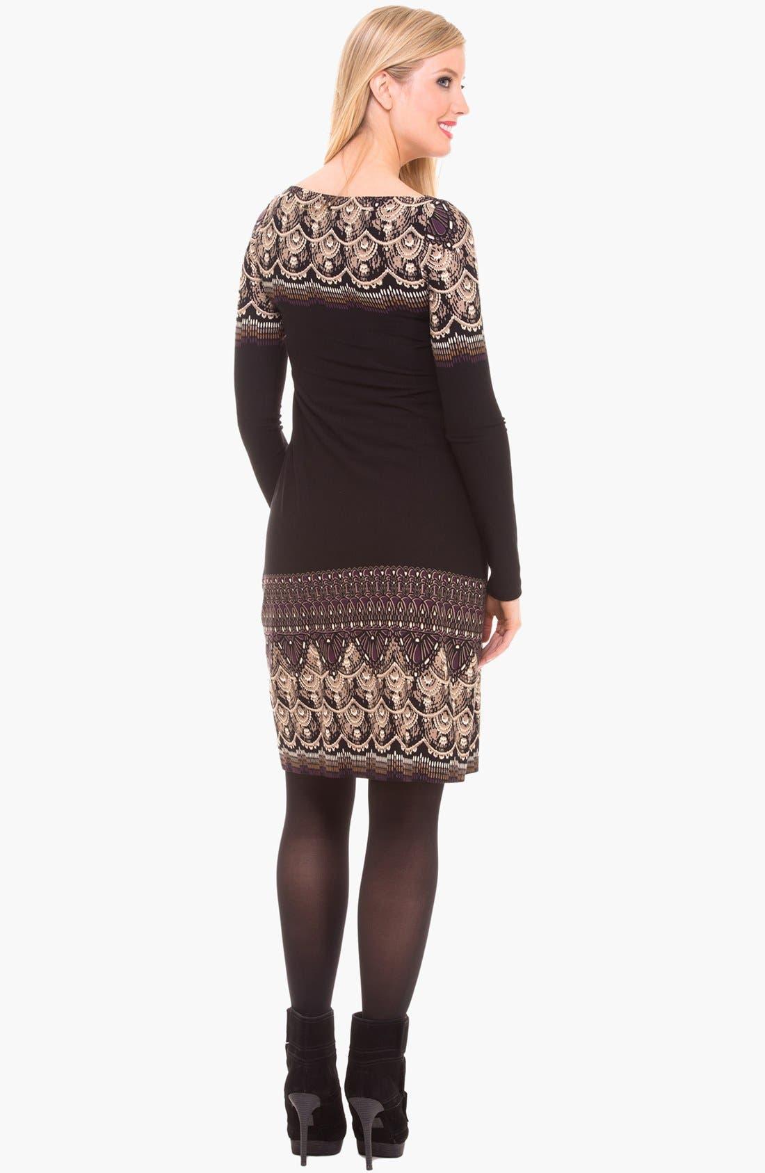 Alternate Image 3  - Olian Boatneck Maternity Dress