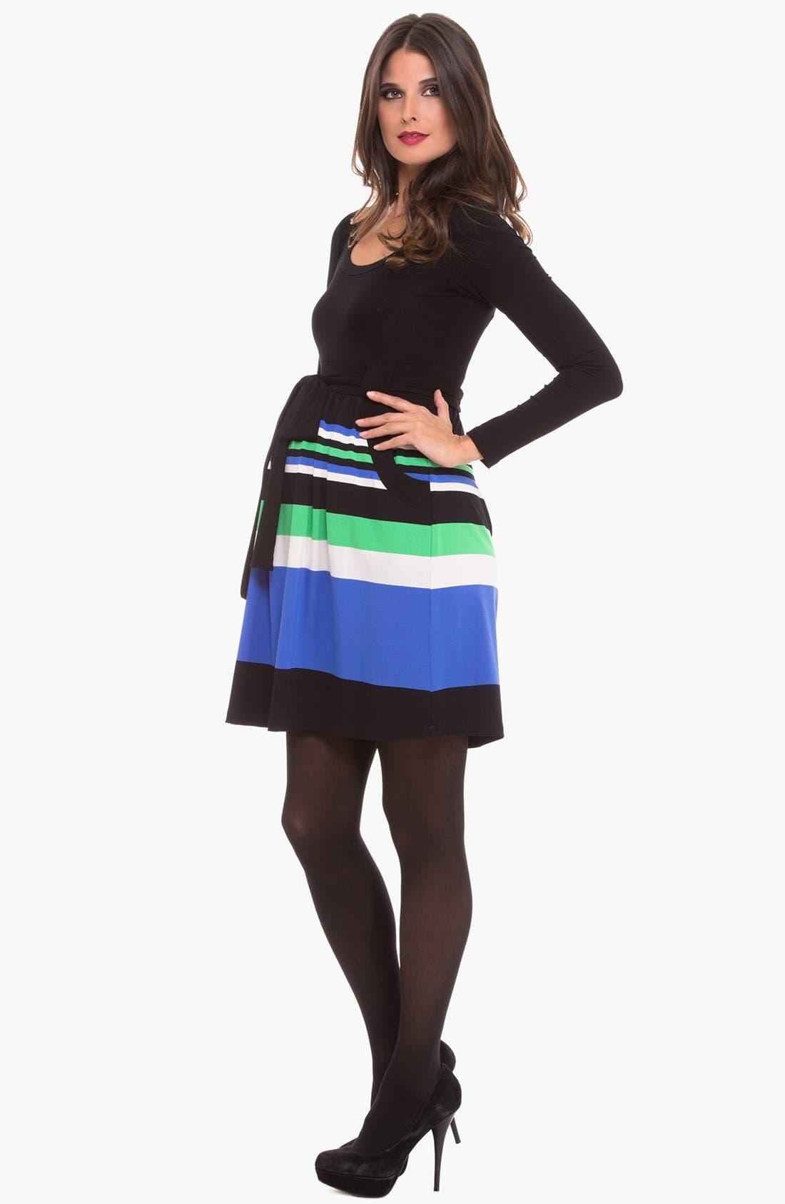 Alternate Image 3  - Olian Scoop Neck Maternity Dress