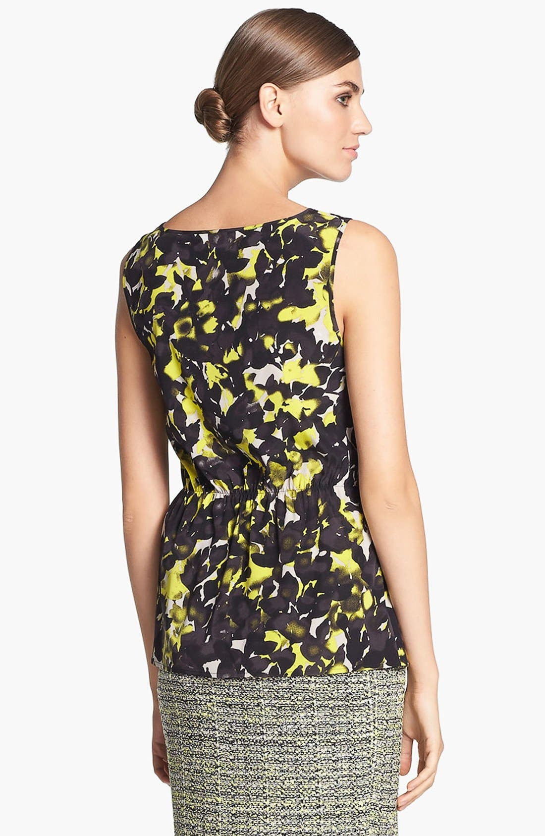 Alternate Image 4  - St. John Collection 'Layered Leaves' Print Crepe Blouse