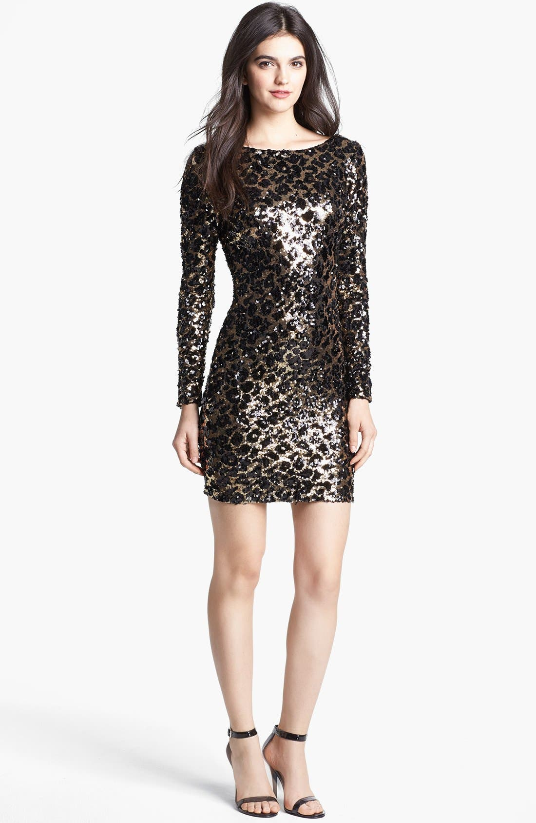 Alternate Image 3  - Dress the Population 'Lola' Animal Sequin Dress