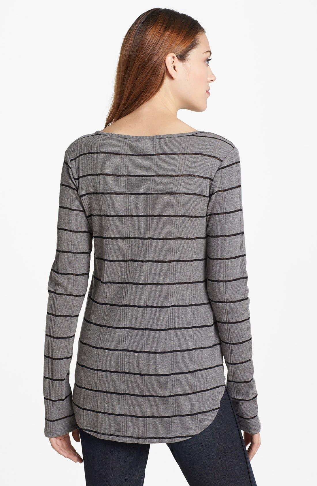 Alternate Image 2  - Lucky Brand Ribbed Stripe Top