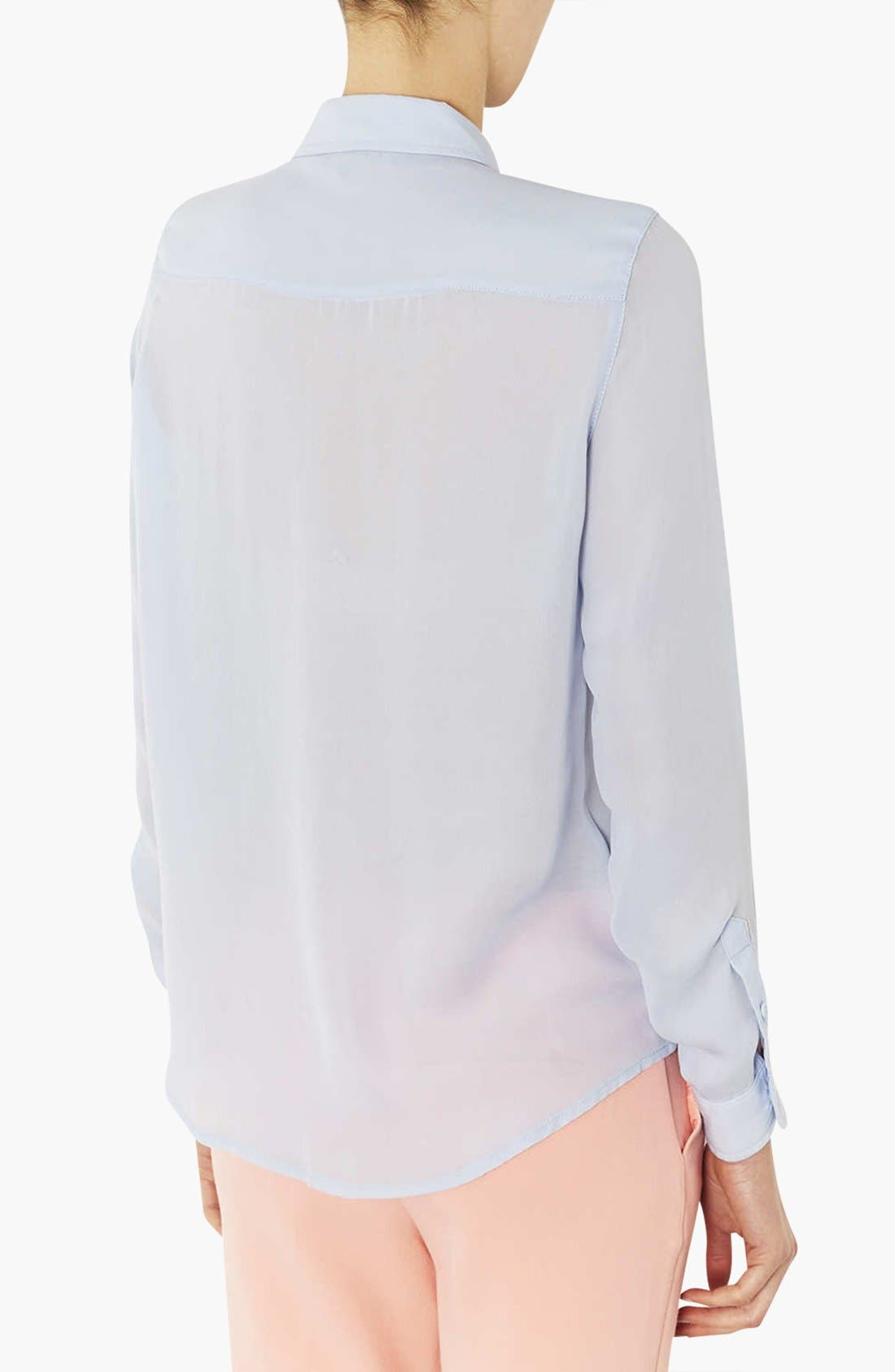 Alternate Image 2  - Topshop Sheer Shirt