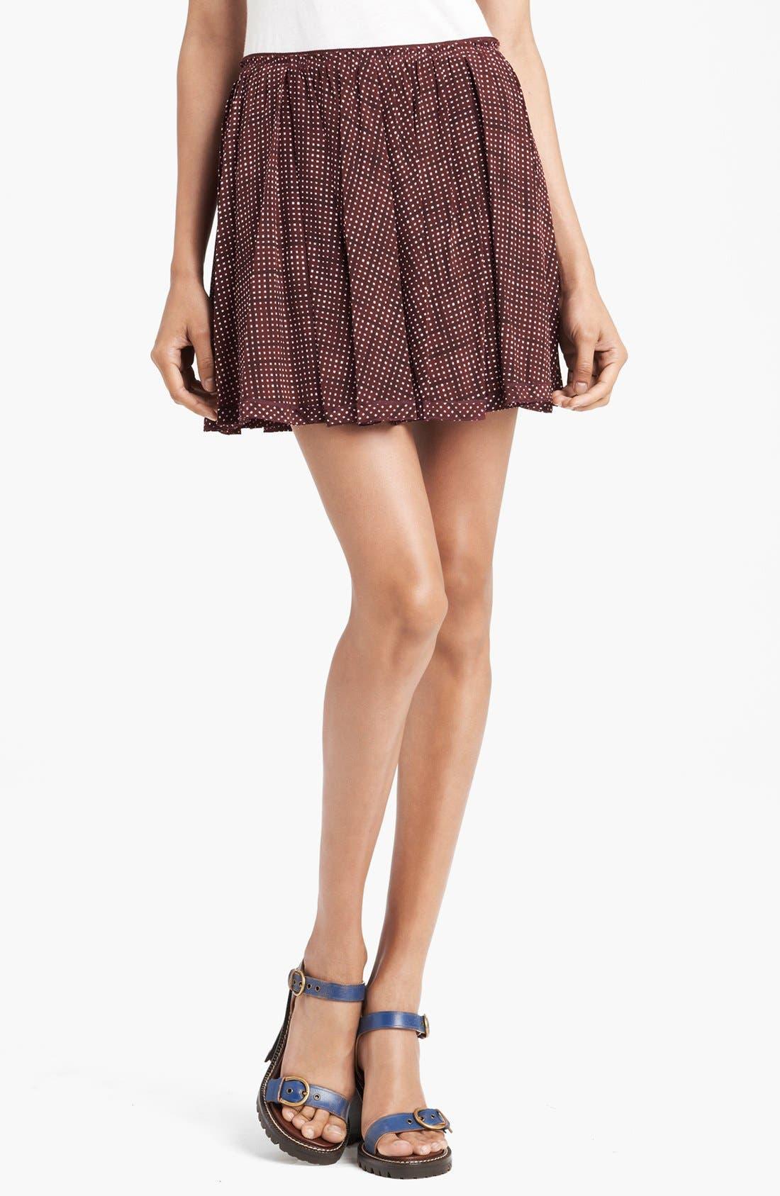 Main Image - MARC JACOBS Pleated Silk Crepe Miniskirt