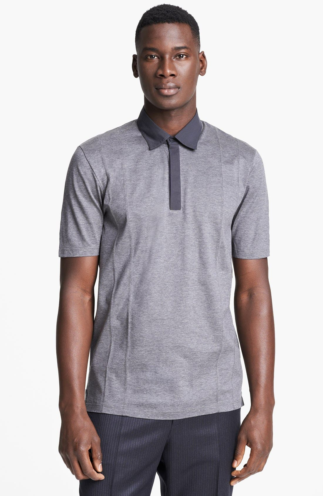 Alternate Image 1 Selected - Z Zegna Jersey Cotton Polo