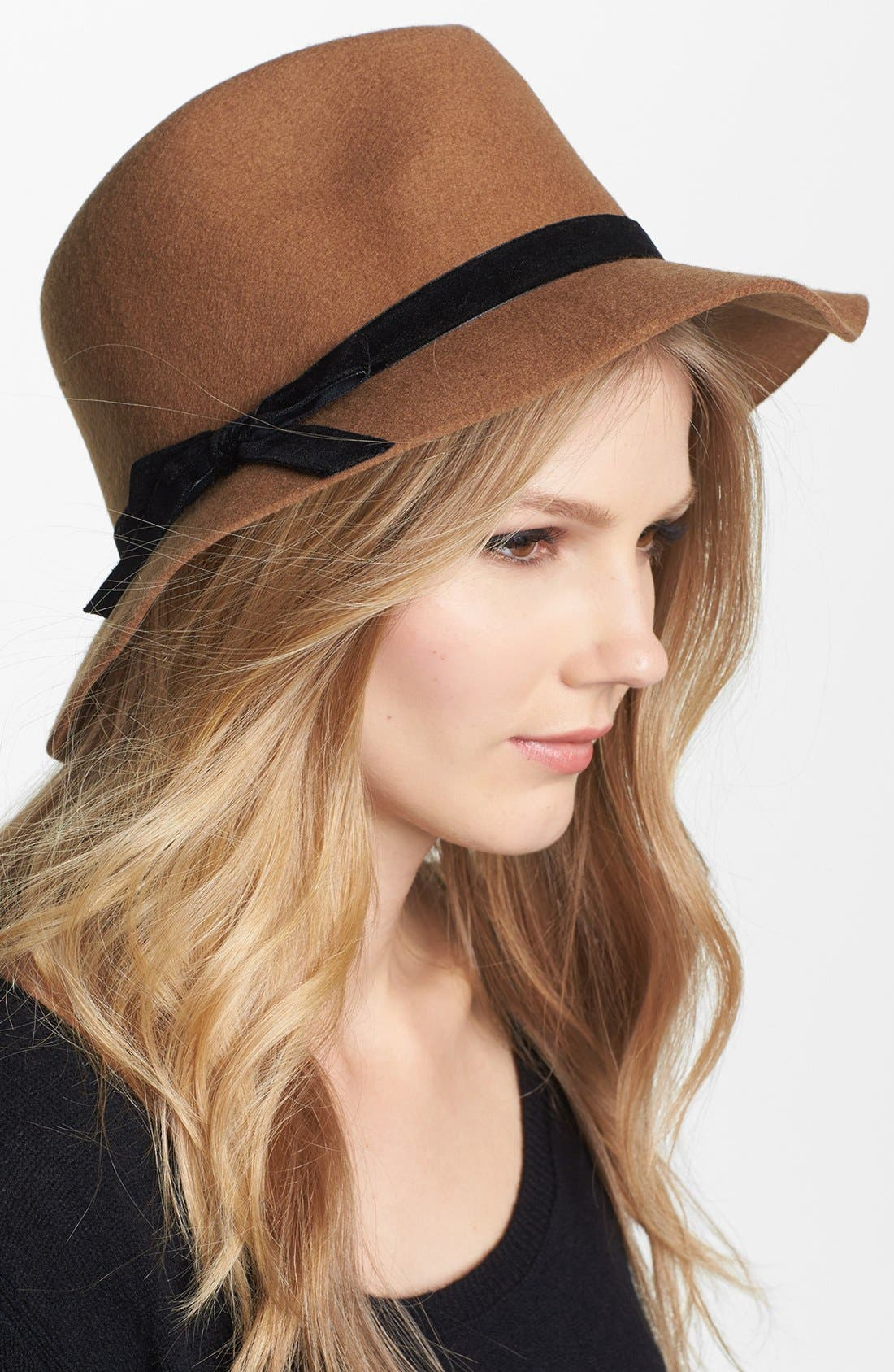 Alternate Image 1 Selected - Nordstrom Floppy Wool Felt Fedora