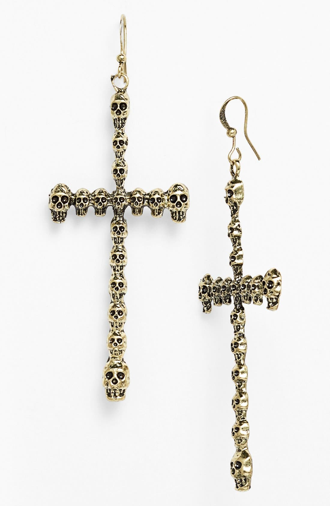 Main Image - Guinevere 'Skull Cross' Earrings