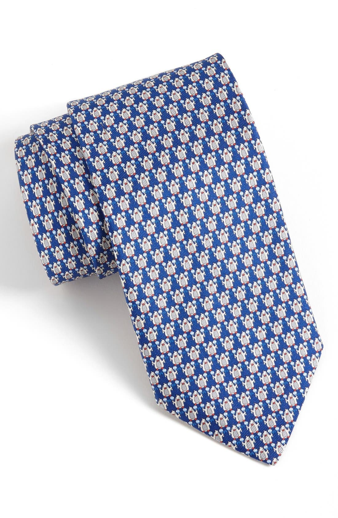 Alternate Image 1 Selected - Salvatore Ferragamo Penguin Print Silk Tie