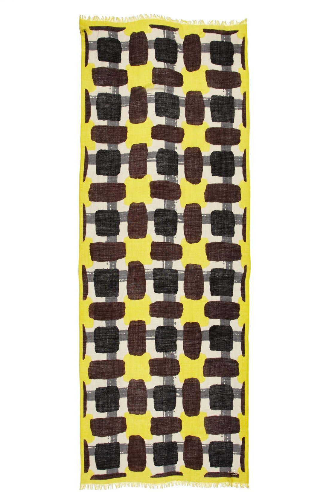 Alternate Image 3  - kate spade new york 'beautiful type - menswear geo' scarf