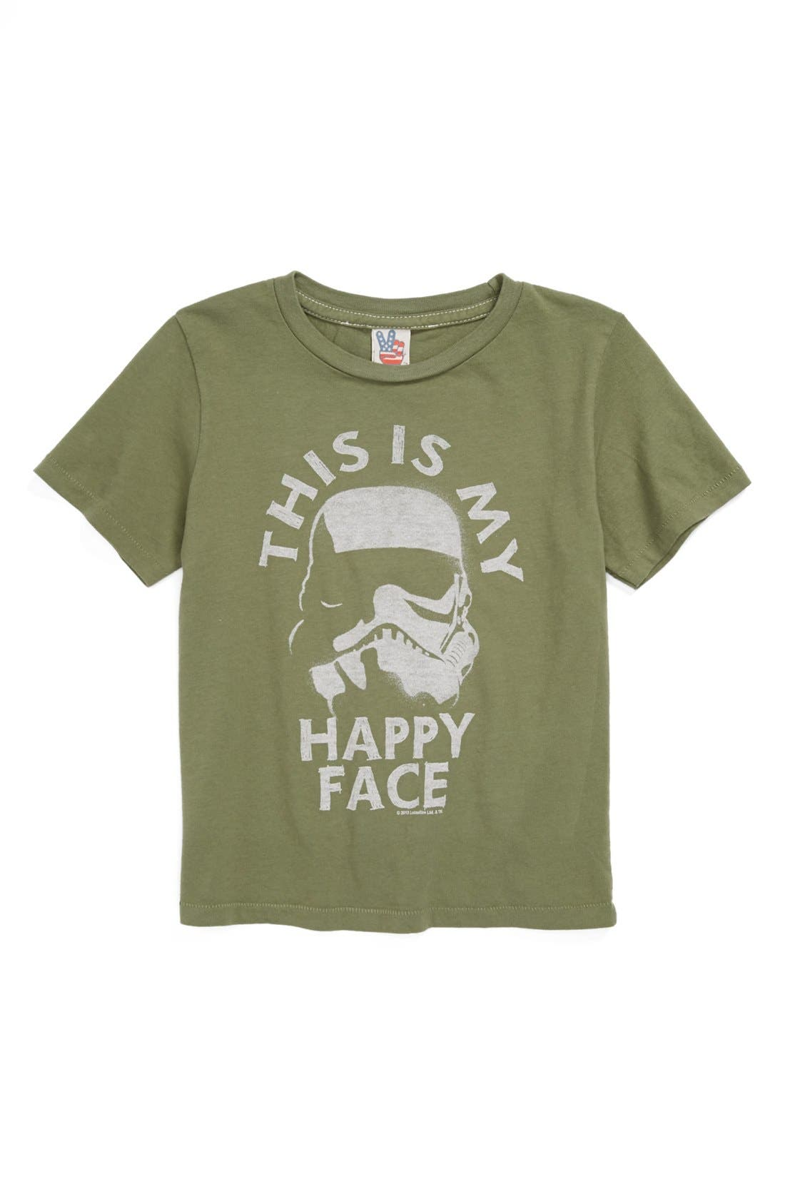 Main Image - Junk Food 'This Is My Happy Face' T-Shirt (Toddler Boys)