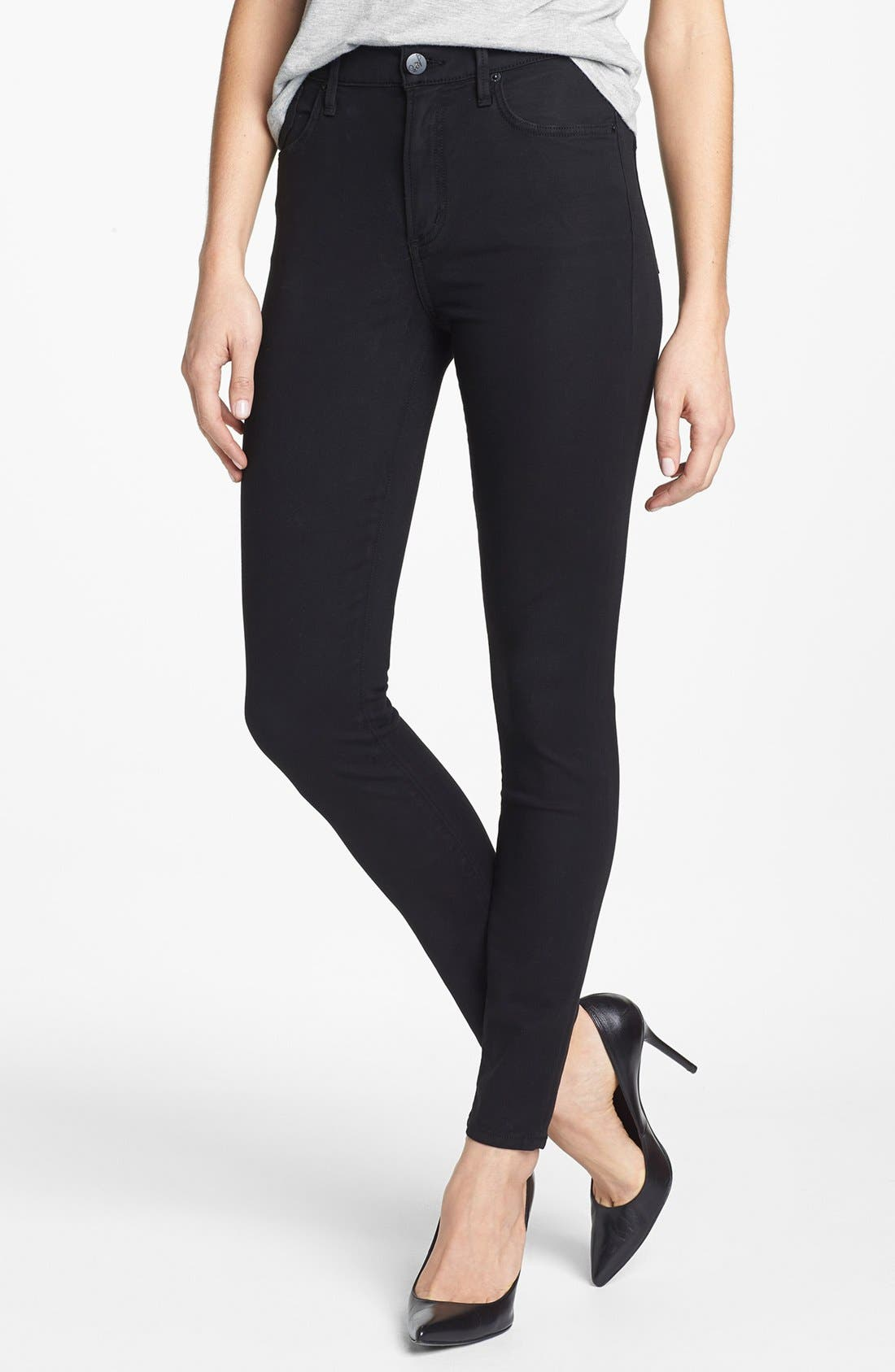Main Image - A Gold E 'Sophie' High Rise Skinny Jeans (Versailles)