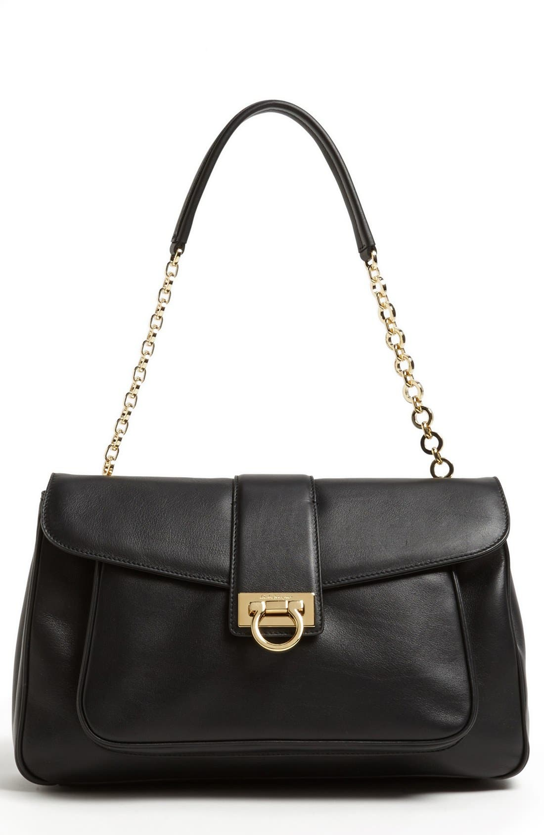 Main Image - Salvatore Ferragamo 'Paula' Leather Shoulder Bag