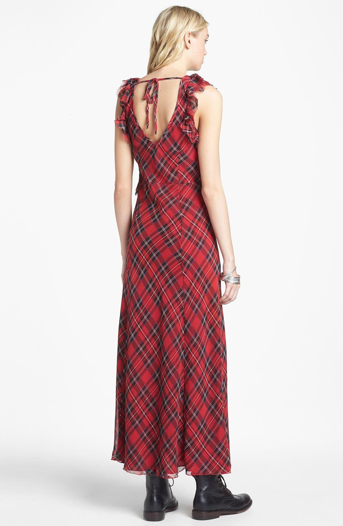 Alternate Image 2  - Free People 'Venitia' Ruffled Plaid Maxi Dress