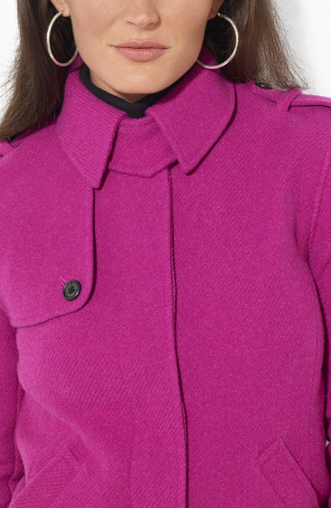 Alternate Image 3  - Lauren Ralph Lauren Buttoned Wool Blend Jacket