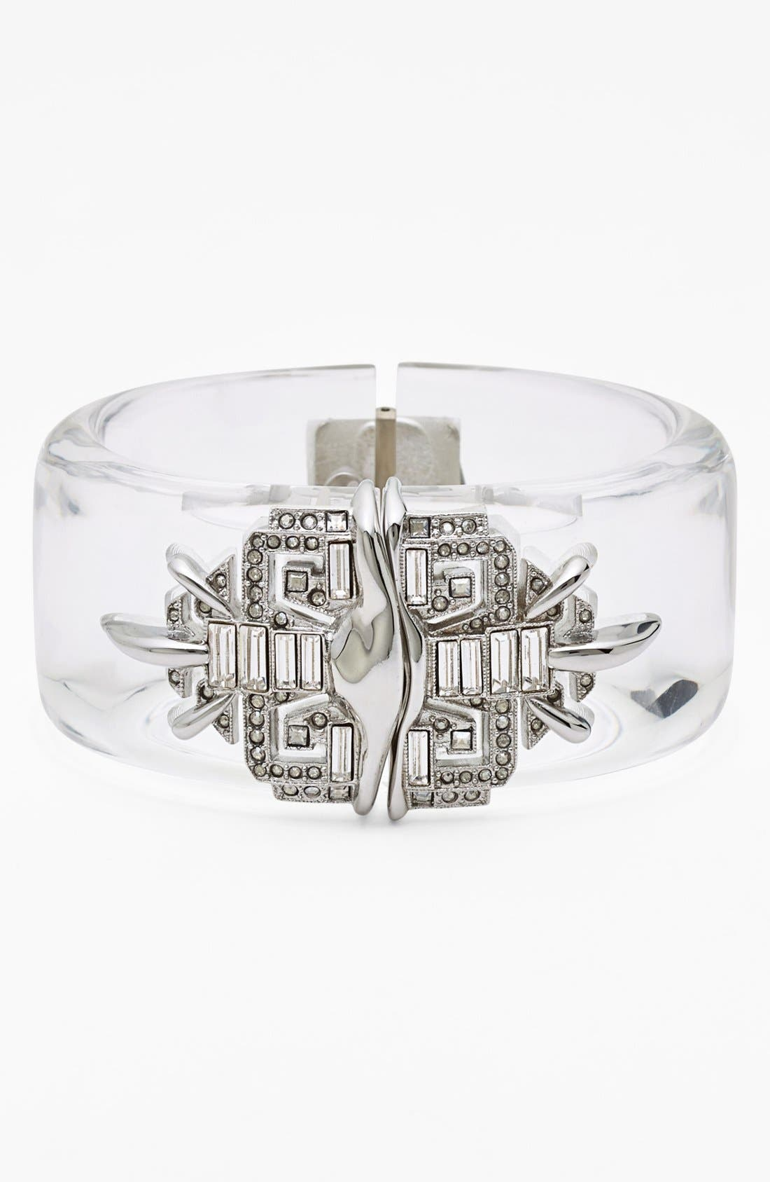 Main Image - Alexis Bittar 'Lucite® - Winter Deco' Hinged Bracelet