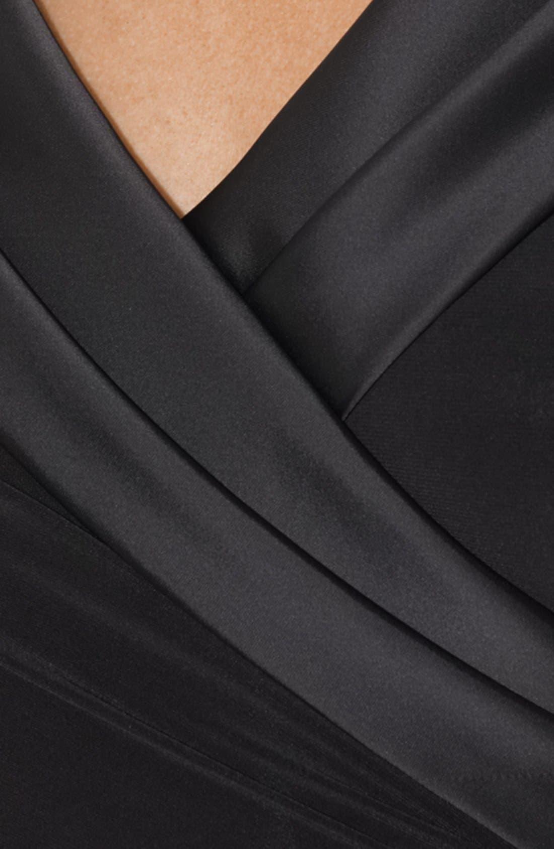 Alternate Image 3  - Lauren Ralph Lauren Satin Neck Matte Jersey Gown