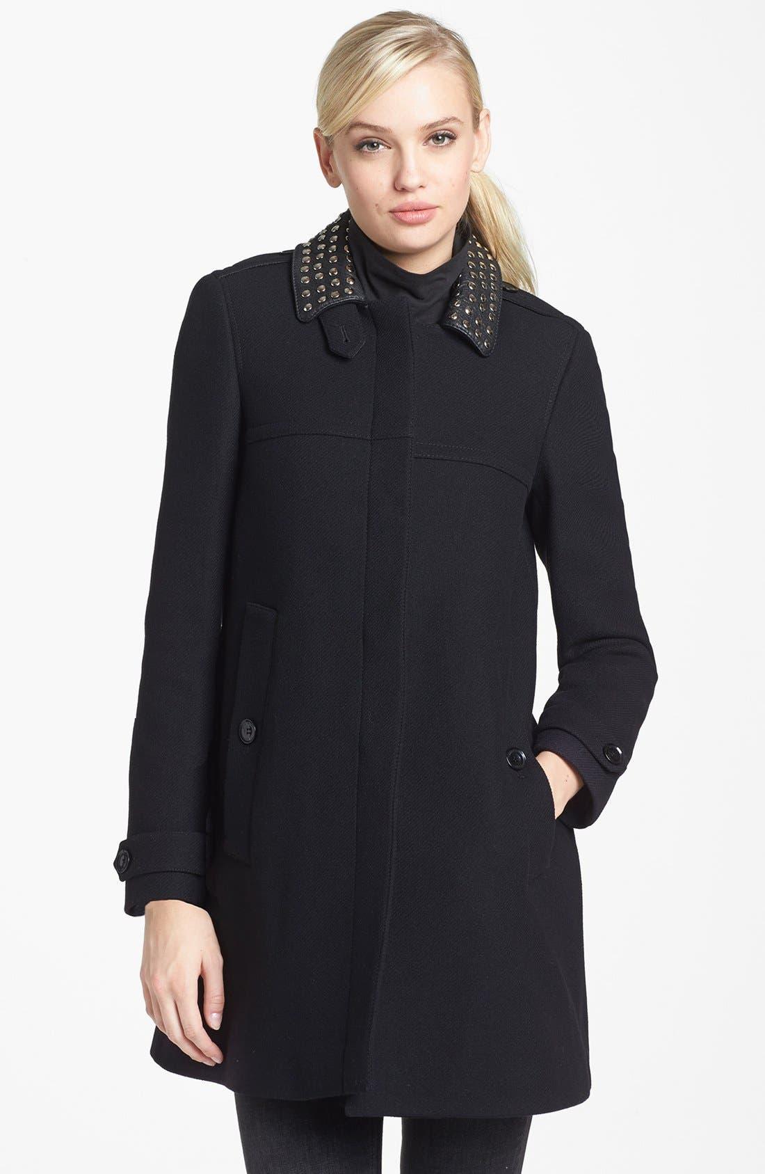Main Image - Burberry Brit 'Masondale' Wool Blend Coat