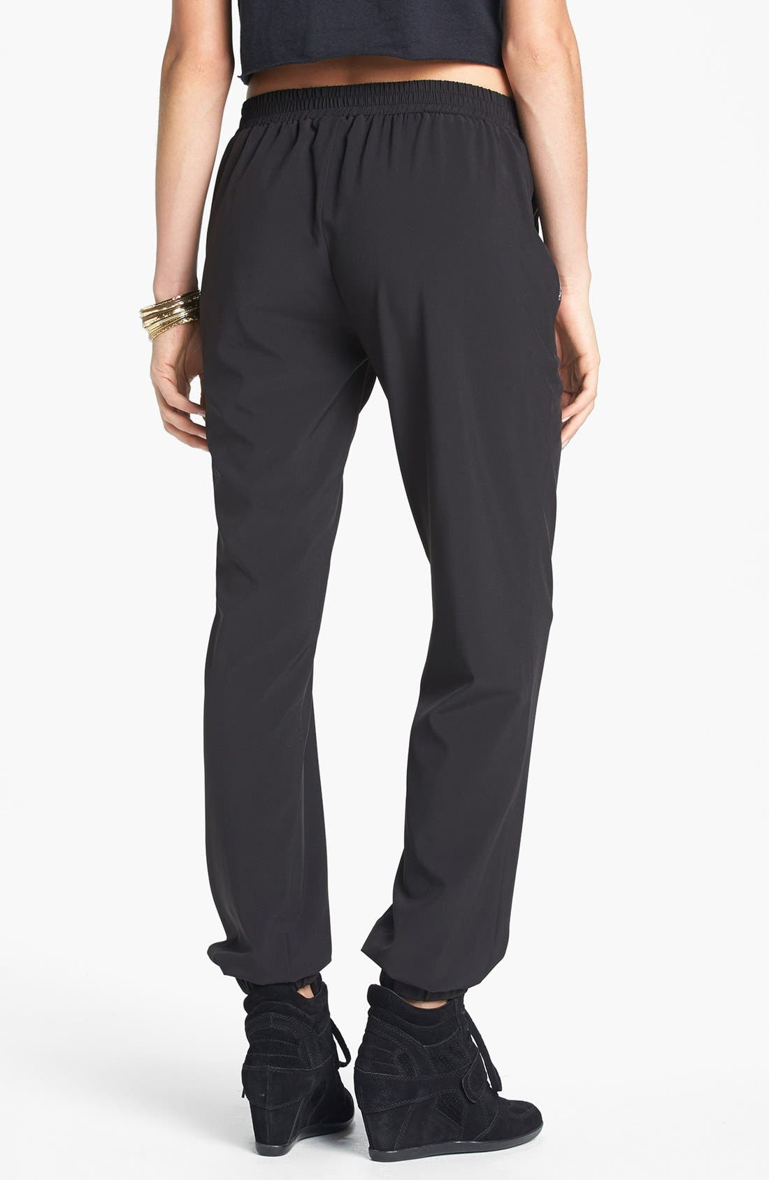 Alternate Image 2  - Lily White Zip Pocket Track Pants (Juniors)