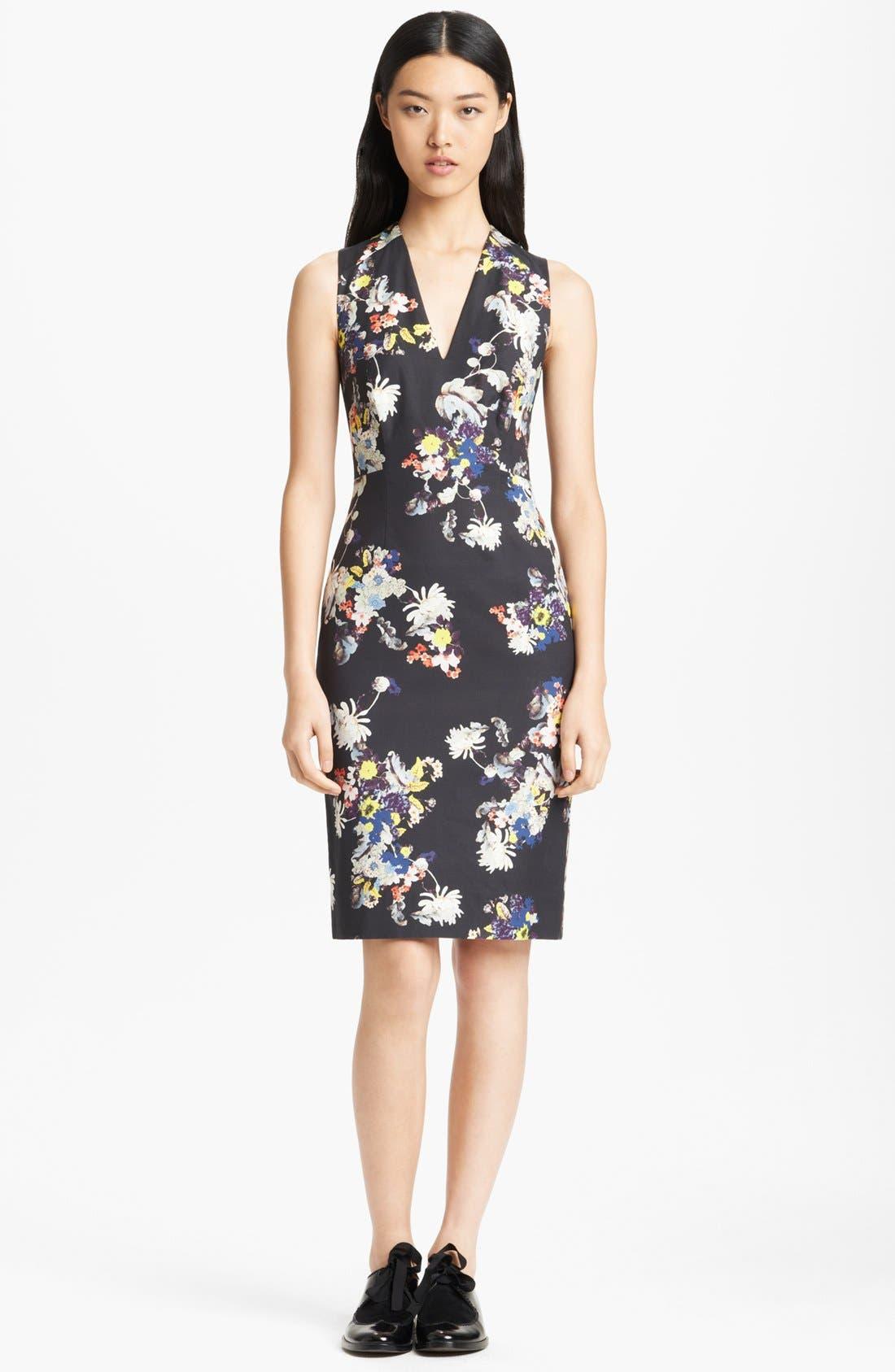 Main Image - Erdem Garden Print Fitted Dress