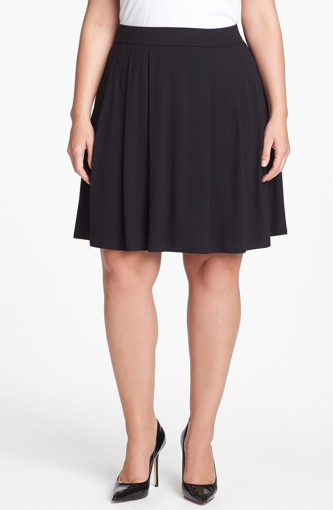 Alternate Image 1 Selected - Eileen Fisher Pleat Skirt (Plus Size)