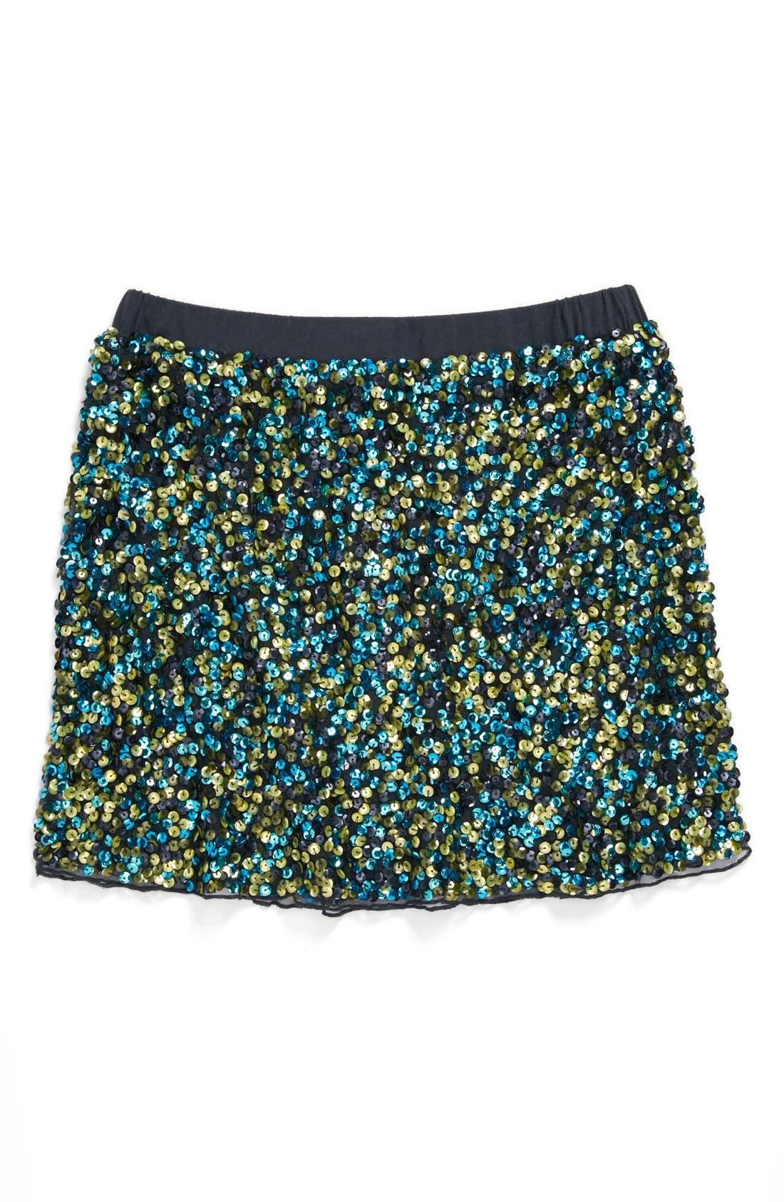 Alternate Image 1 Selected - Peek 'Zoe' Sequin Skirt (Toddler Girls, Little Girls & Big Girls)