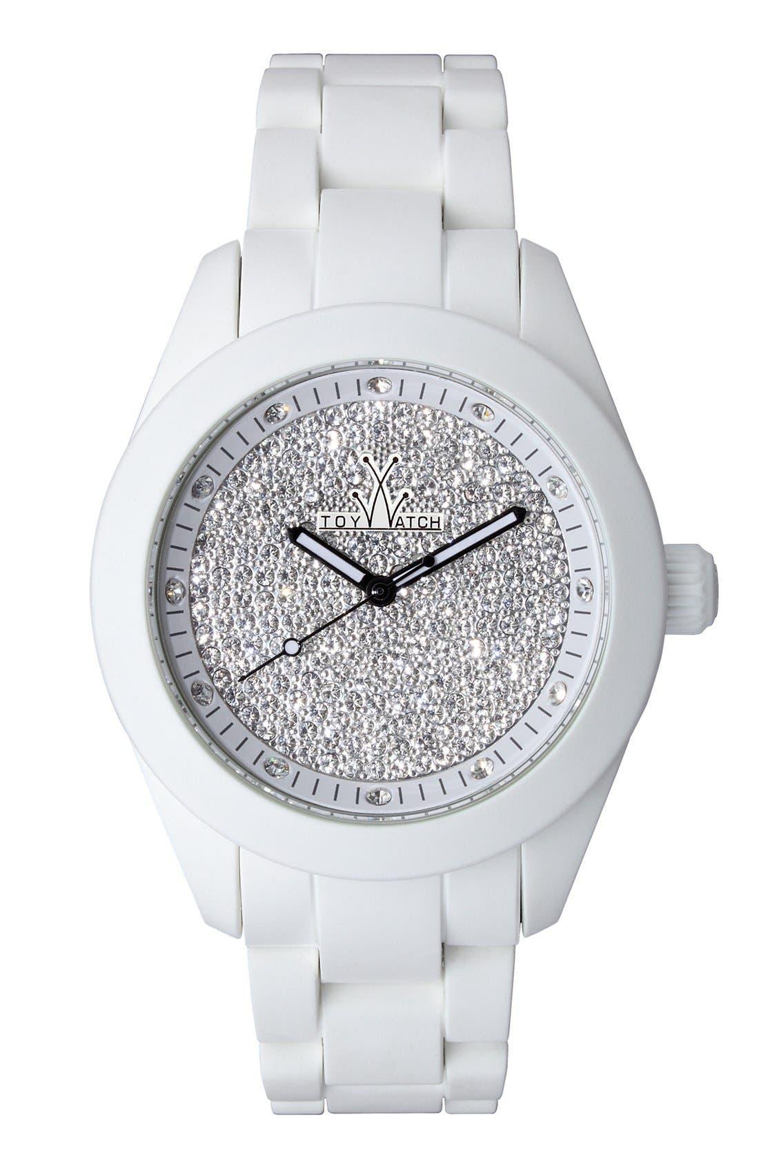 Alternate Image 1 Selected - TOYWATCH 'Velvety' Pavé Dial Bracelet Watch, 41mm