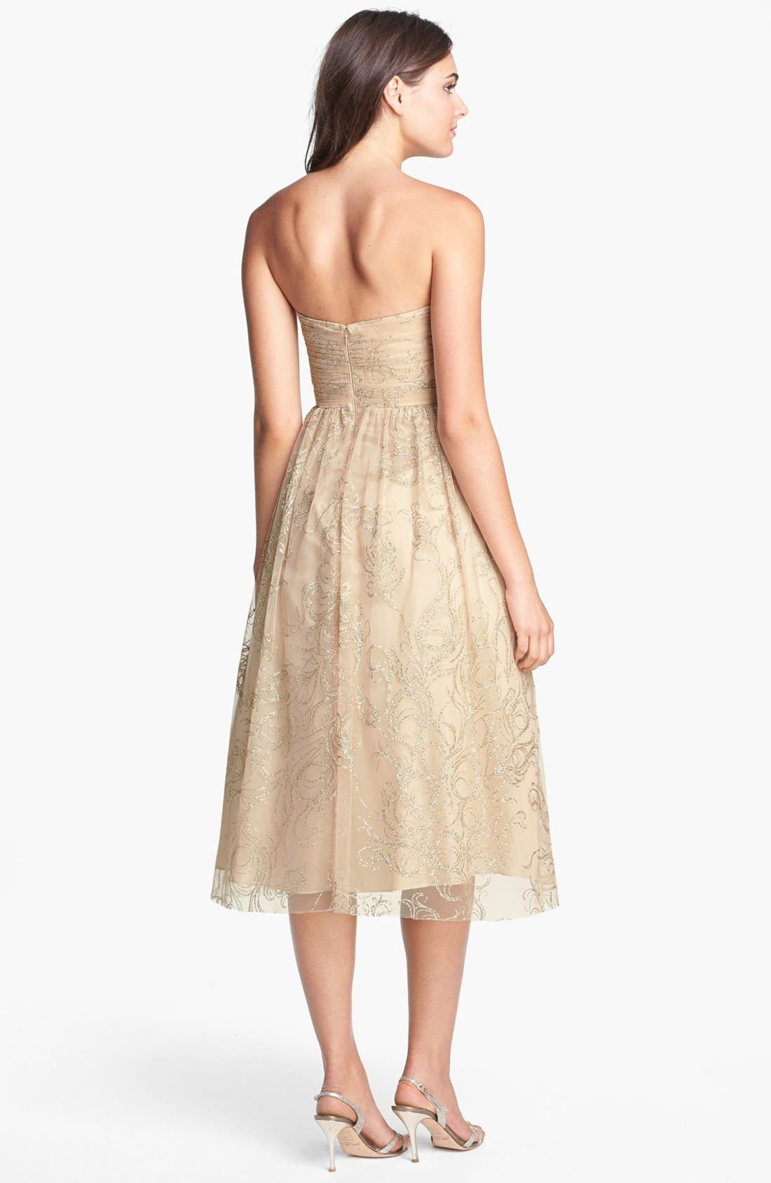 Alternate Image 2  - Hailey by Adrianna Papell Glitter Print Tulle Fit & Flare Dress