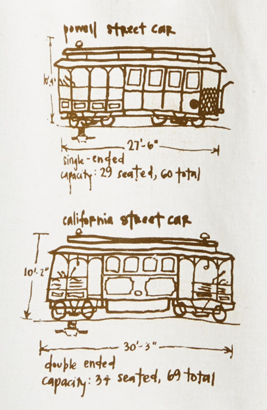 Alternate Image 2  - Girls Can Tell 'San Francisco Cable Cars' Tea Towel (2 for $28)