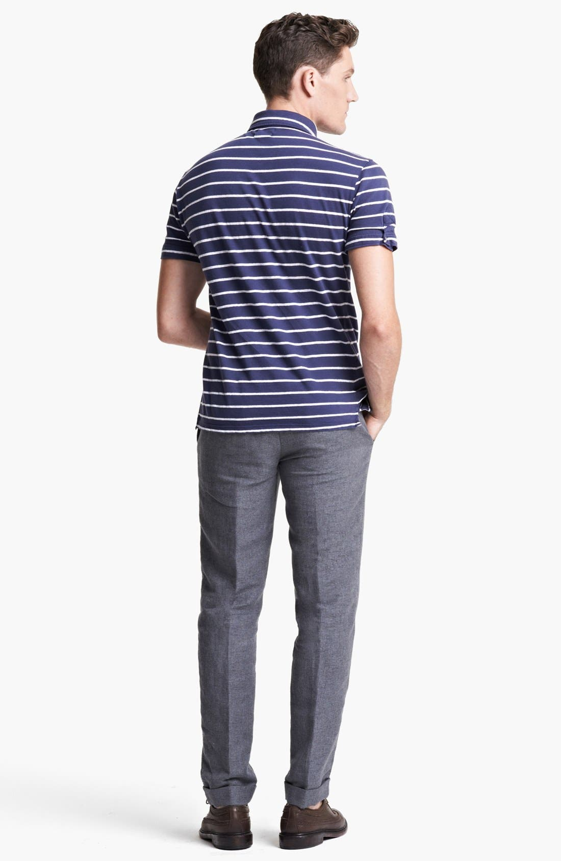 Alternate Image 5  - Michael Bastian Stripe Jersey Polo