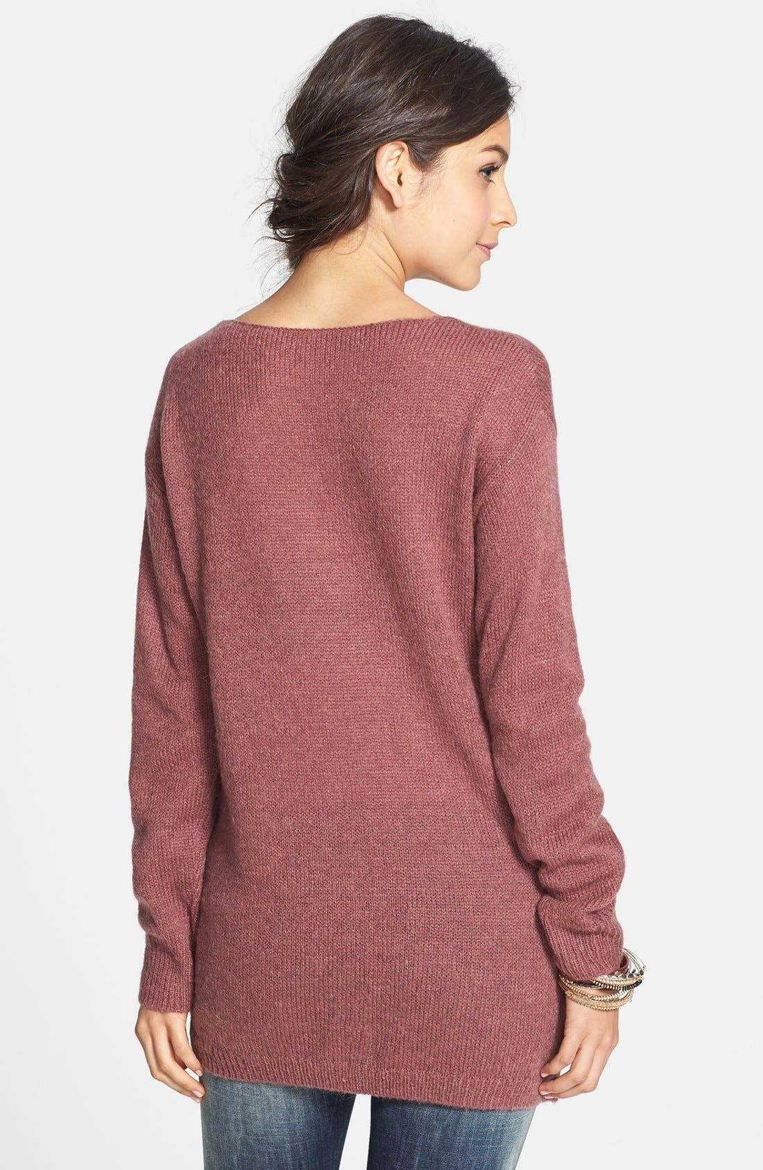 Alternate Image 2  - BP. Side Zip Tunic Sweater (Juniors)