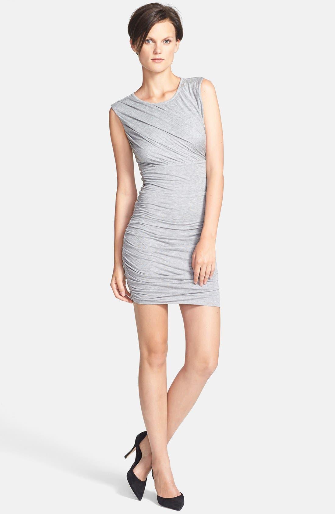 Main Image - Diane von Furstenberg 'Angelina' Ruched Knit Sleeveless Dress