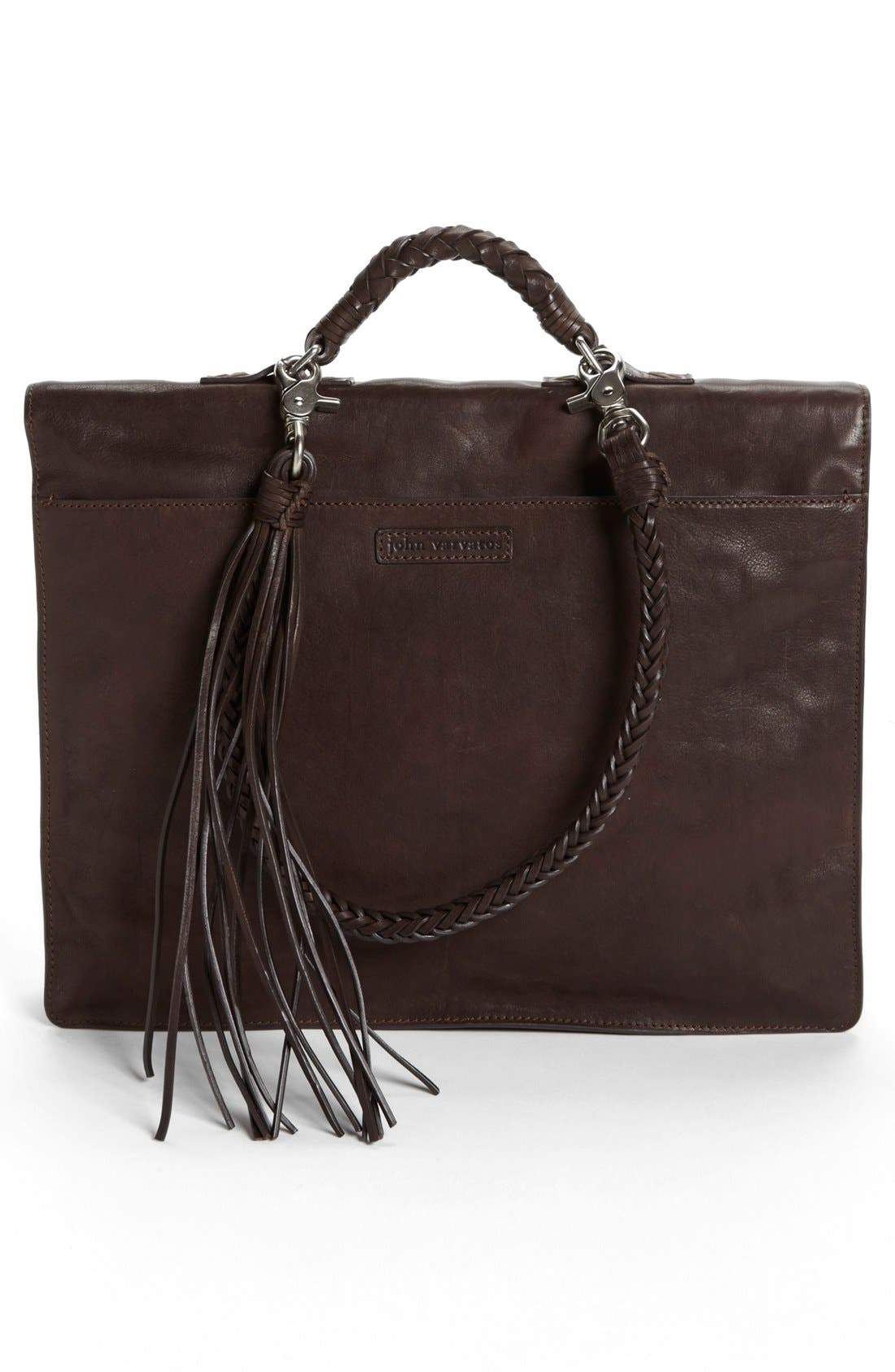 Alternate Image 3  - John Varvatos Collection Leather Briefcase