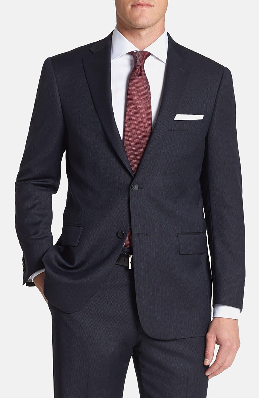 Alternate Image 4  - Hart Schaffner Marx 'New York' Classic Fit Stripe Suit