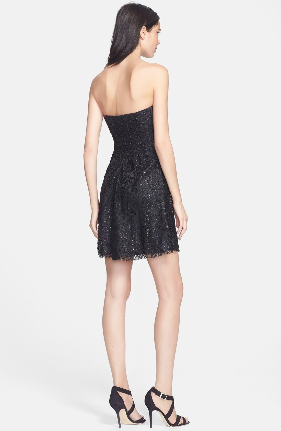 Alternate Image 2  - Parker 'Eva' Metallic Lace Fit & Flare Dress