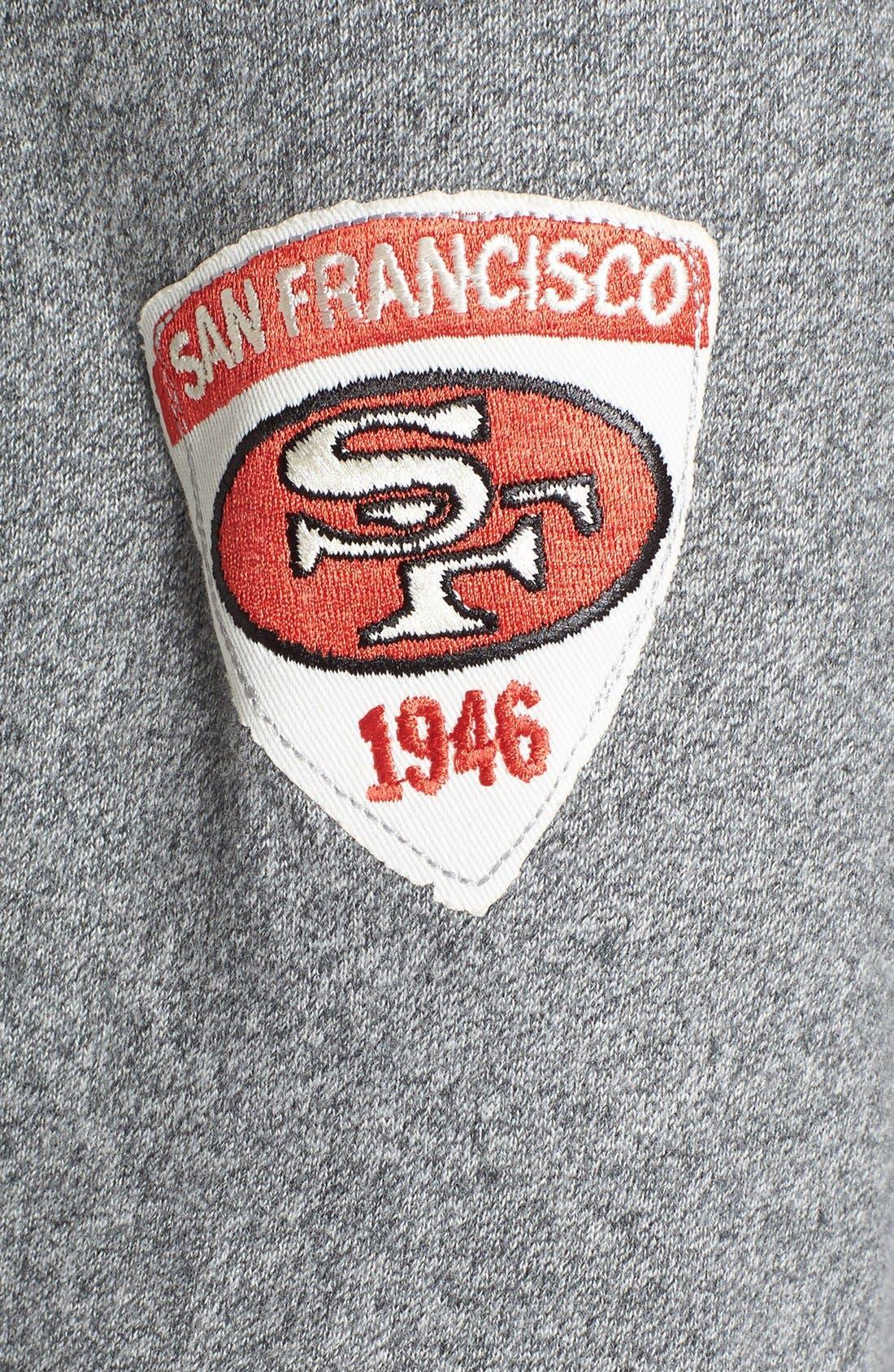 Alternate Image 3  - Junk Food 'San Francisco 49ers - Sunday' Zip Hoodie