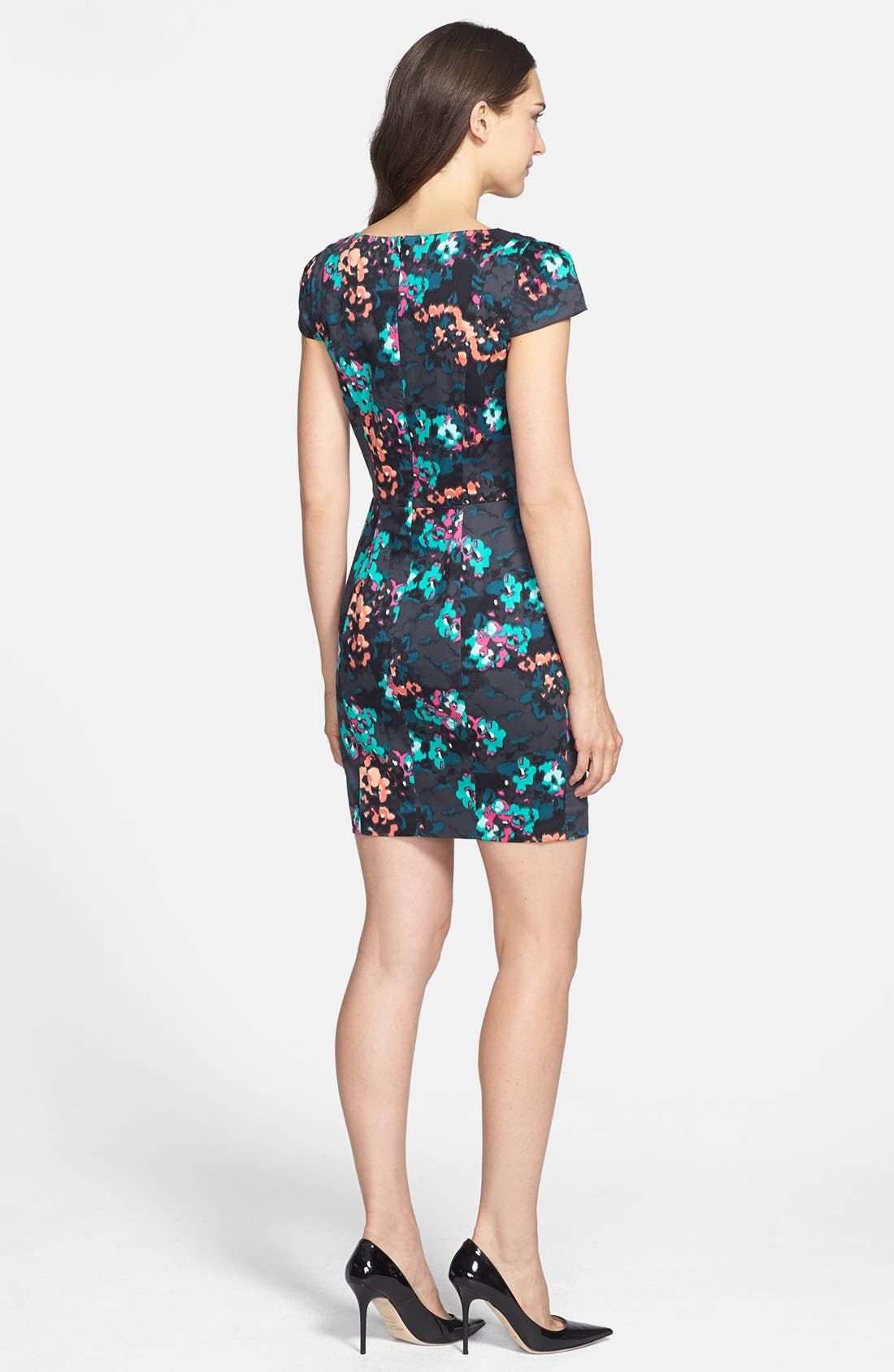 Alternate Image 2  - French Connection Print Stretch Cotton Sheath Dress
