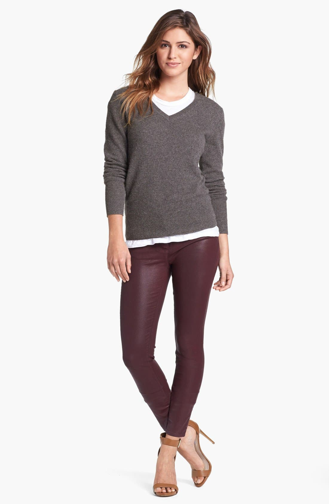 Alternate Image 4  - Halogen® V-Neck Cashmere Sweater