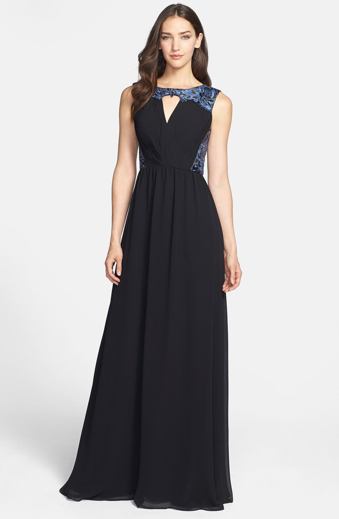 Main Image - ERIN erin fetherston 'Clemence' Embroidery Embellished Gown