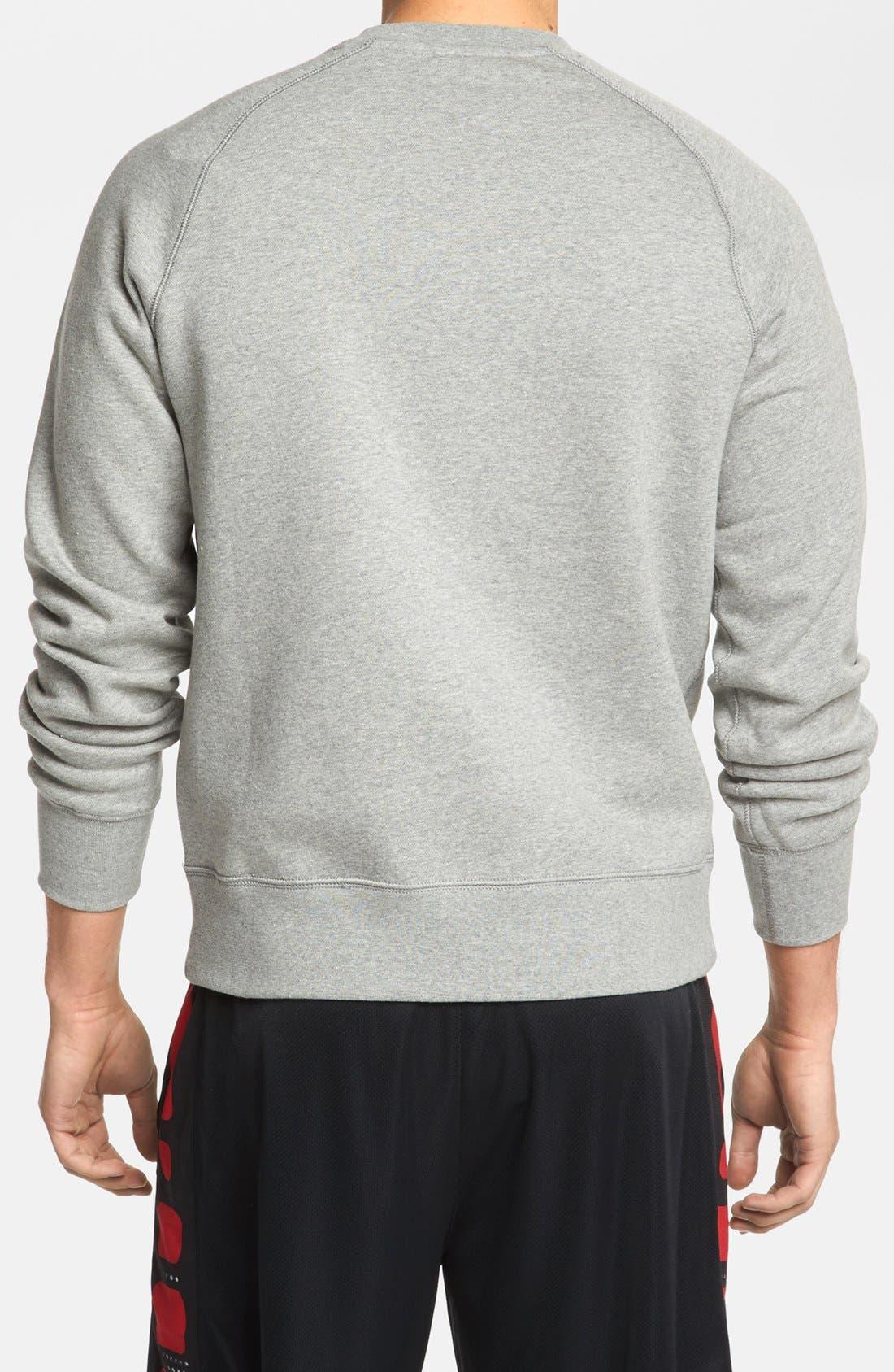 Alternate Image 2  - Nike 'Ace' Fleece Crewneck Sweatshirt