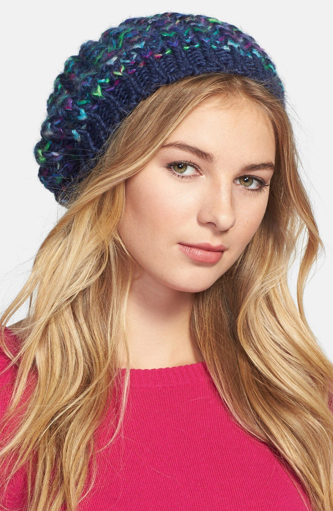 Alternate Image 1 Selected - Steve Madden 'Taste the Rainbow' Knit Beret (Special Purchase)