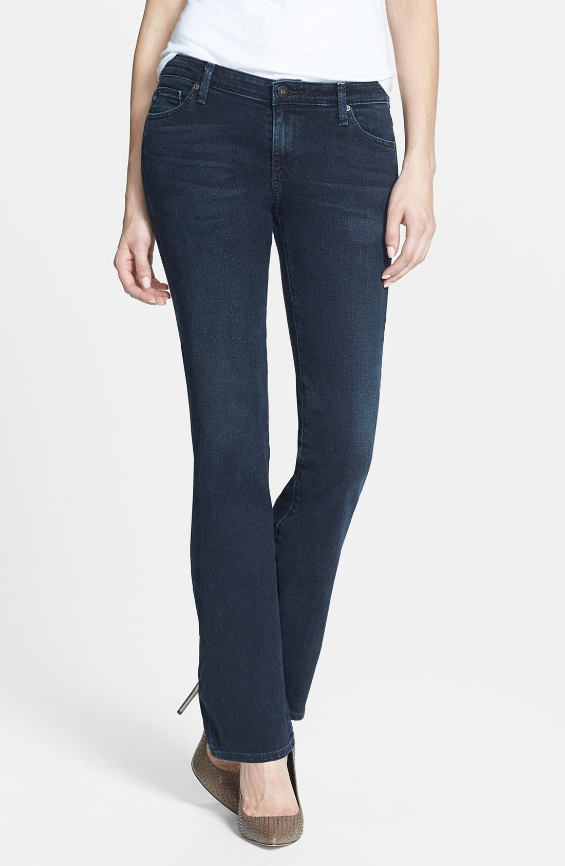 Main Image - AG 'Angelina' Bootcut Jeans (Smitten) (Petite)