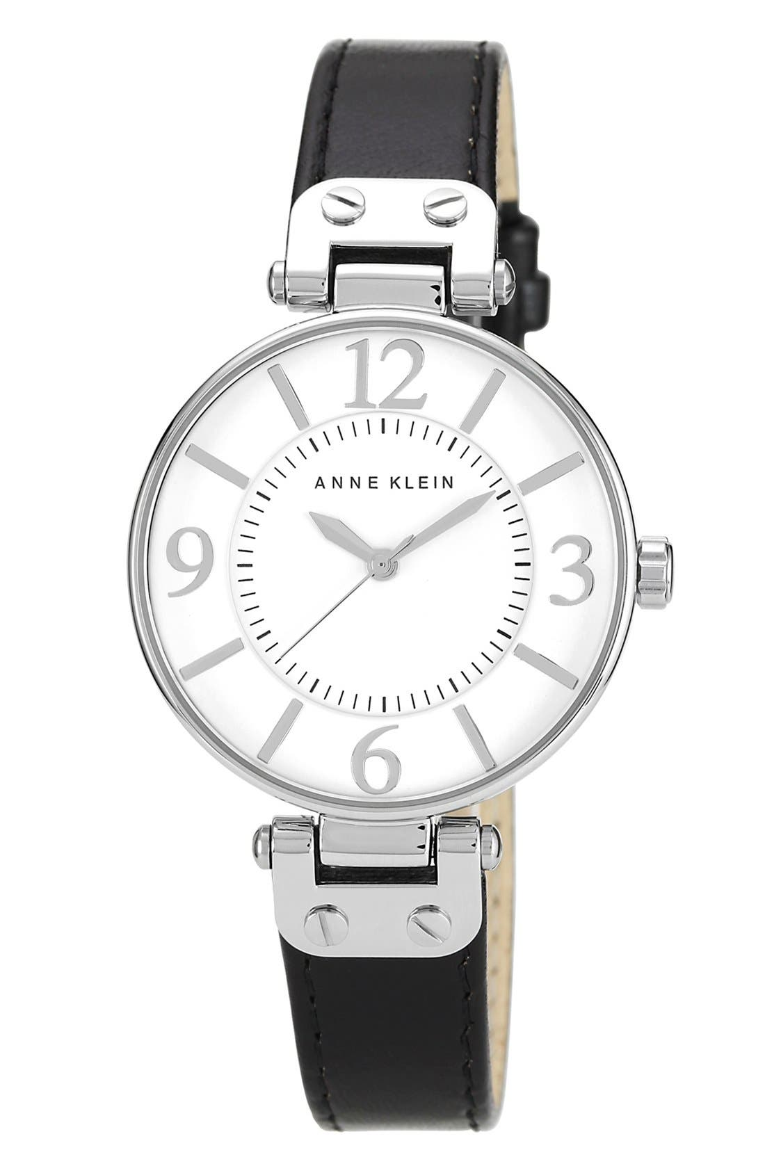 Main Image - Anne Klein Hinge Case Watch, 32mm