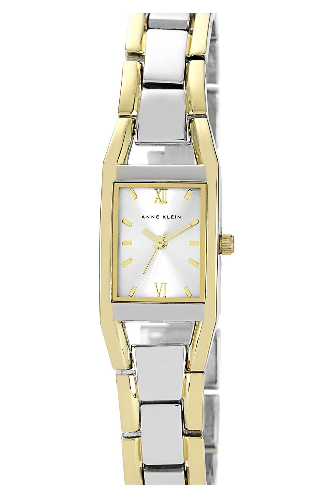 Main Image - Anne Klein Two Tone Bracelet Watch, 19mm