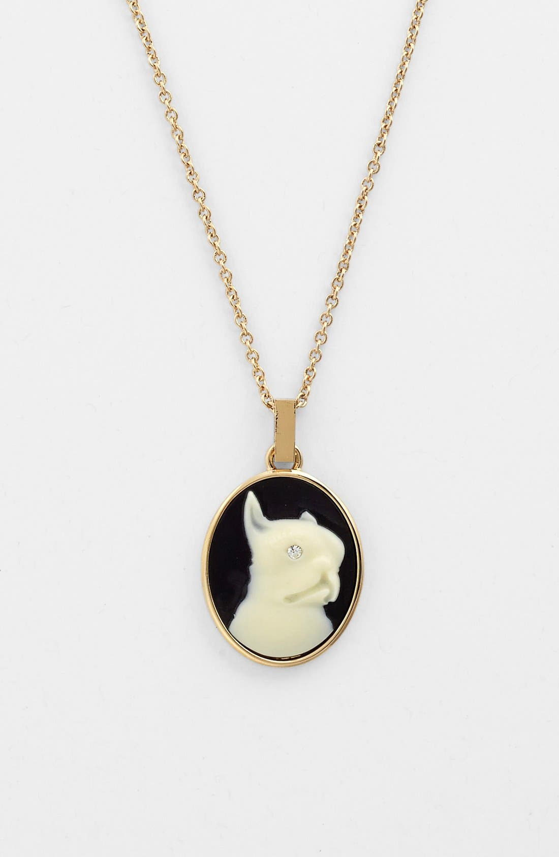 Alternate Image 2  - MARC BY MARC JACOBS 'Olive' Dog Cameo Pendant Necklace