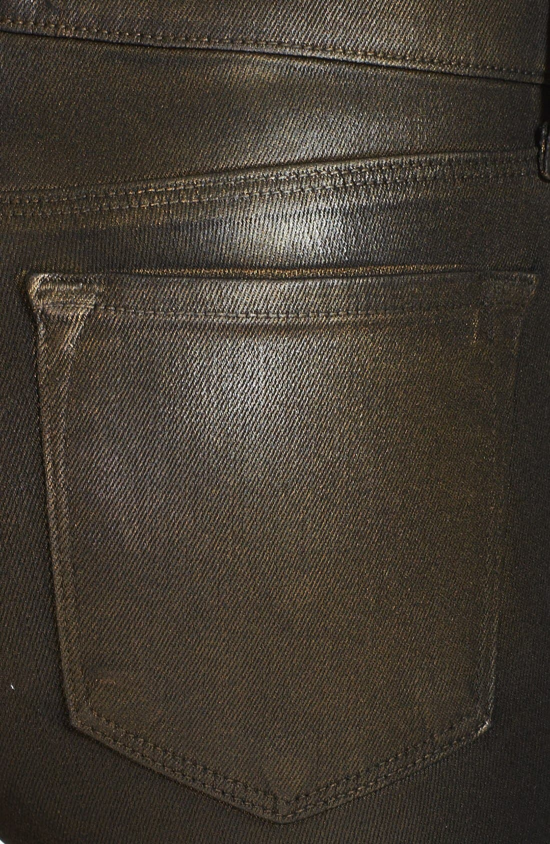 Alternate Image 3  - J Brand '620' Overdyed Skinny Leg Jeans (Diffused Gold)