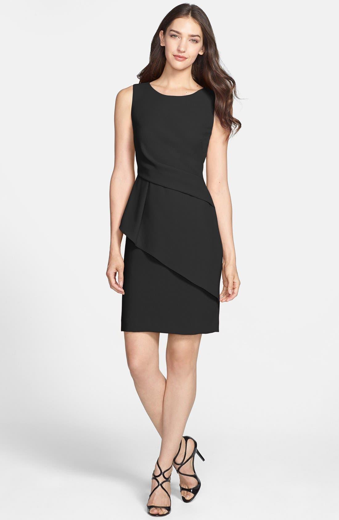 Main Image - Ivanka Trump Asymmetrical Peplum Sheath Dress