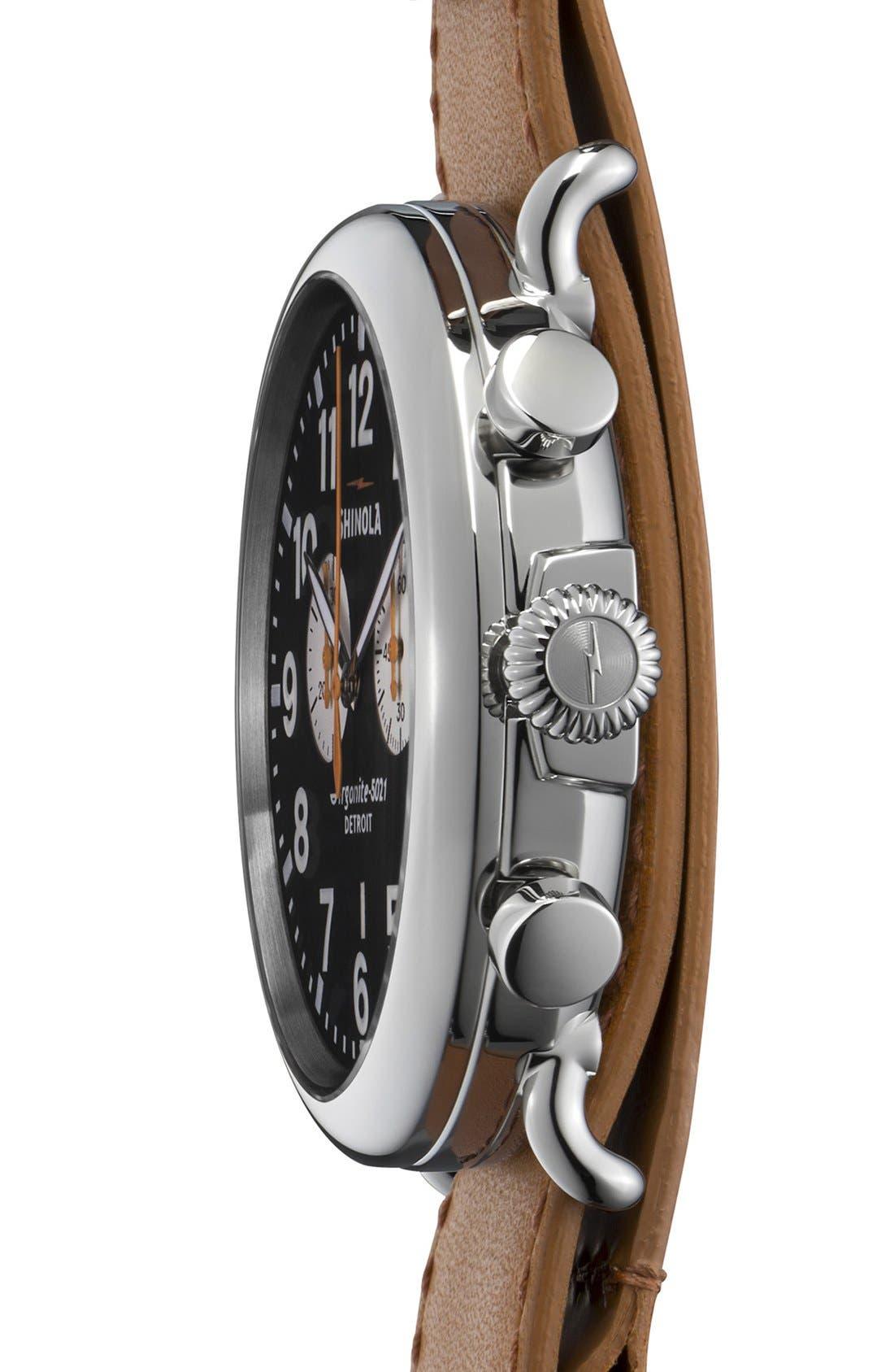 Alternate Image 3  - Shinola 'The Runwell Chrono' Leather Strap Watch, 47mm
