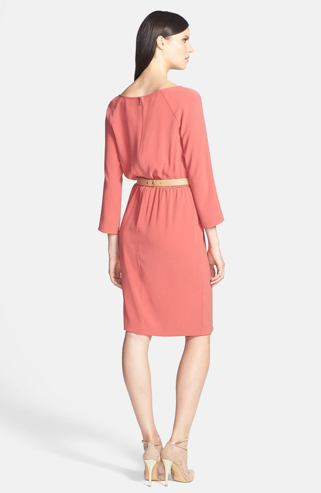 Alternate Image 2  - St. John Collection Front Drape Crepe Dress